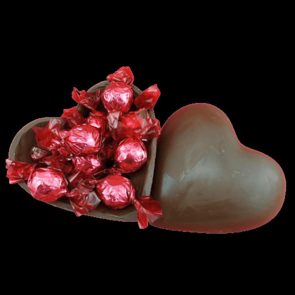 Kit Love Coração de Chocolate 180g Presente Pelúcia Fofinha Amor
