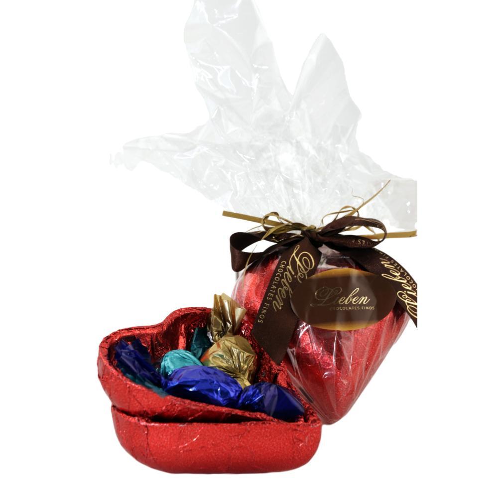 Kit sorte coração de chocolate Pelúcia Barra Frase Presente