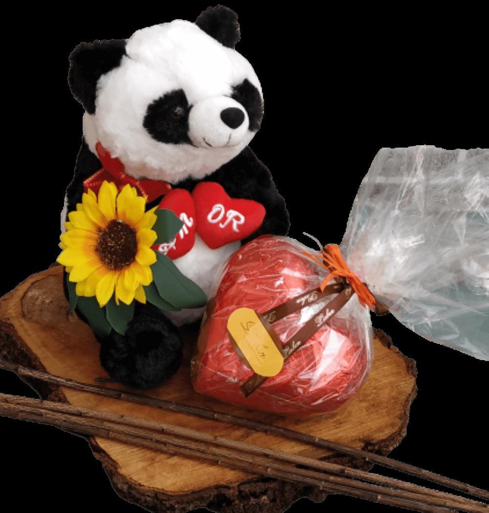 Panda Amor Eterno Dia das Mães Chocolate  Presente Criativo