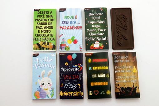 Presente com Necessaire Moderna Coração de Chocolate Super Criativo Aniversário Feliz