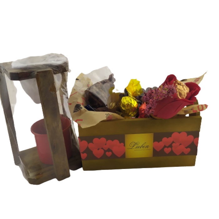 Presente Criativo Amantes de Café  Mini Coador Café Cachepô Chocolates Deliciosos