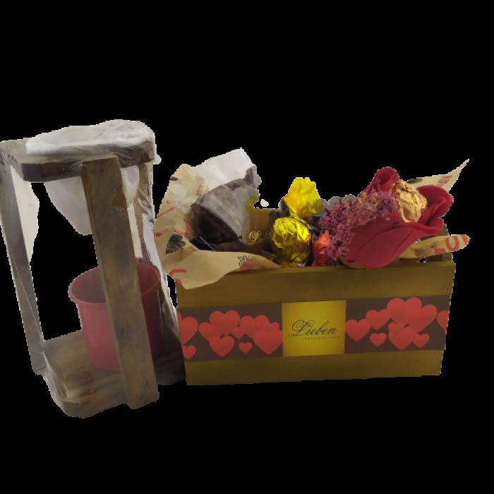 Presente Criativo Mini Coador Café Cachepô Chocolates Dia dos Pais