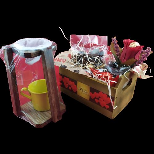 Presente Criativo Mãe Mini Coador Café Cachepô Chocolates