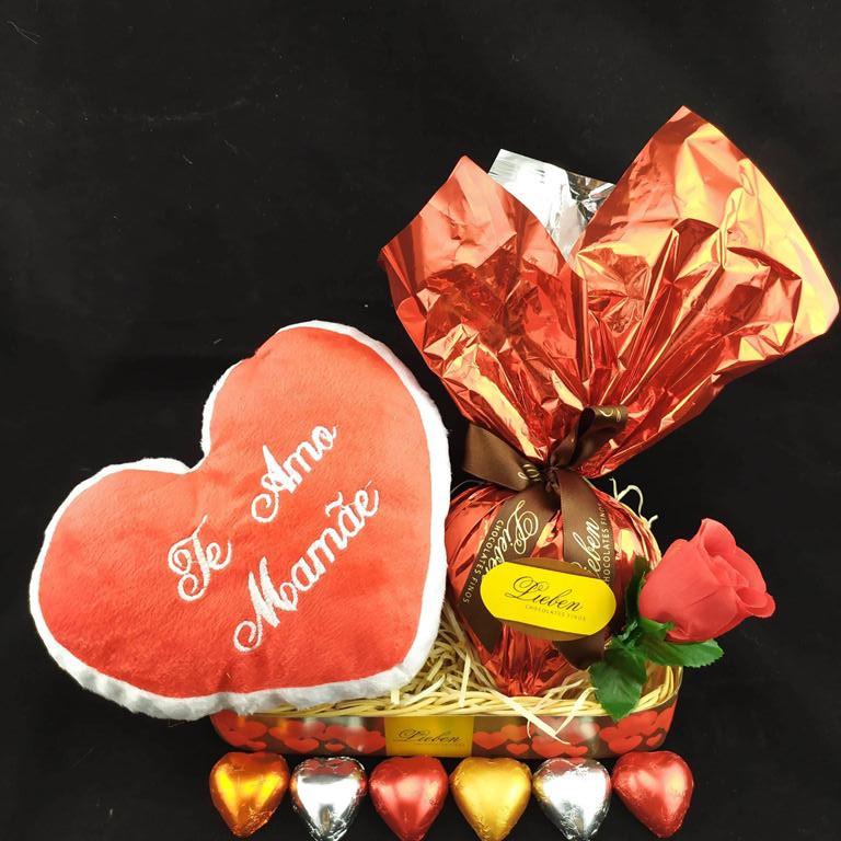 Presente de Chocolate Especial Coração Trufado Dia Das Mães
