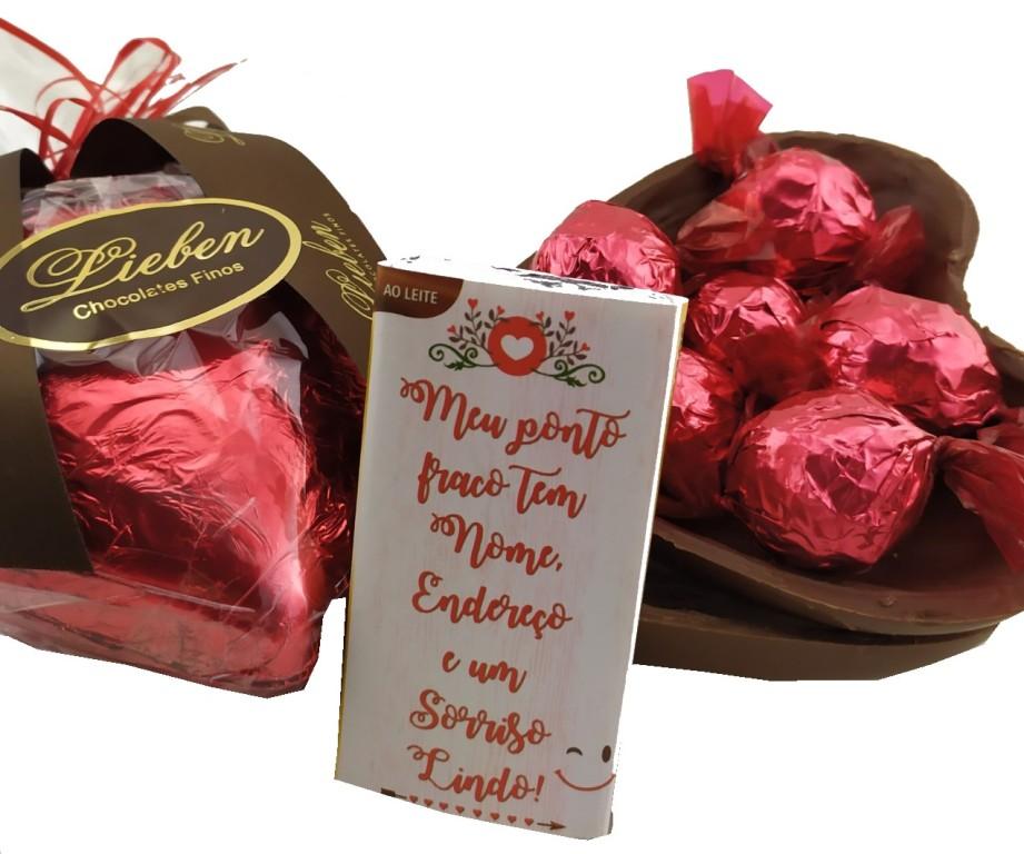 Presente Especial Cesta Amor Feliz Páscoa Pelúcia Chocolates
