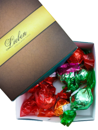 Caixa com 10 Trufas Chocolate Sortidas Artesanal Gourmet Campos Presente