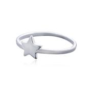 Anel Prata 925 Estrela Lisa