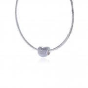 Berloque Coração com Laço em Prata 925