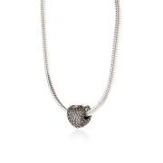 Berloque Coração Cravejado em Prata 925