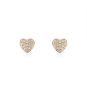 Brinco Coração com Zircônias 1 cm