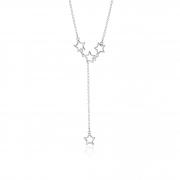 Colar Estrela Vazado em Prata 925 45cm