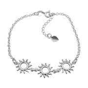Pulseira Sol em Prata 925 16cm + Extensor