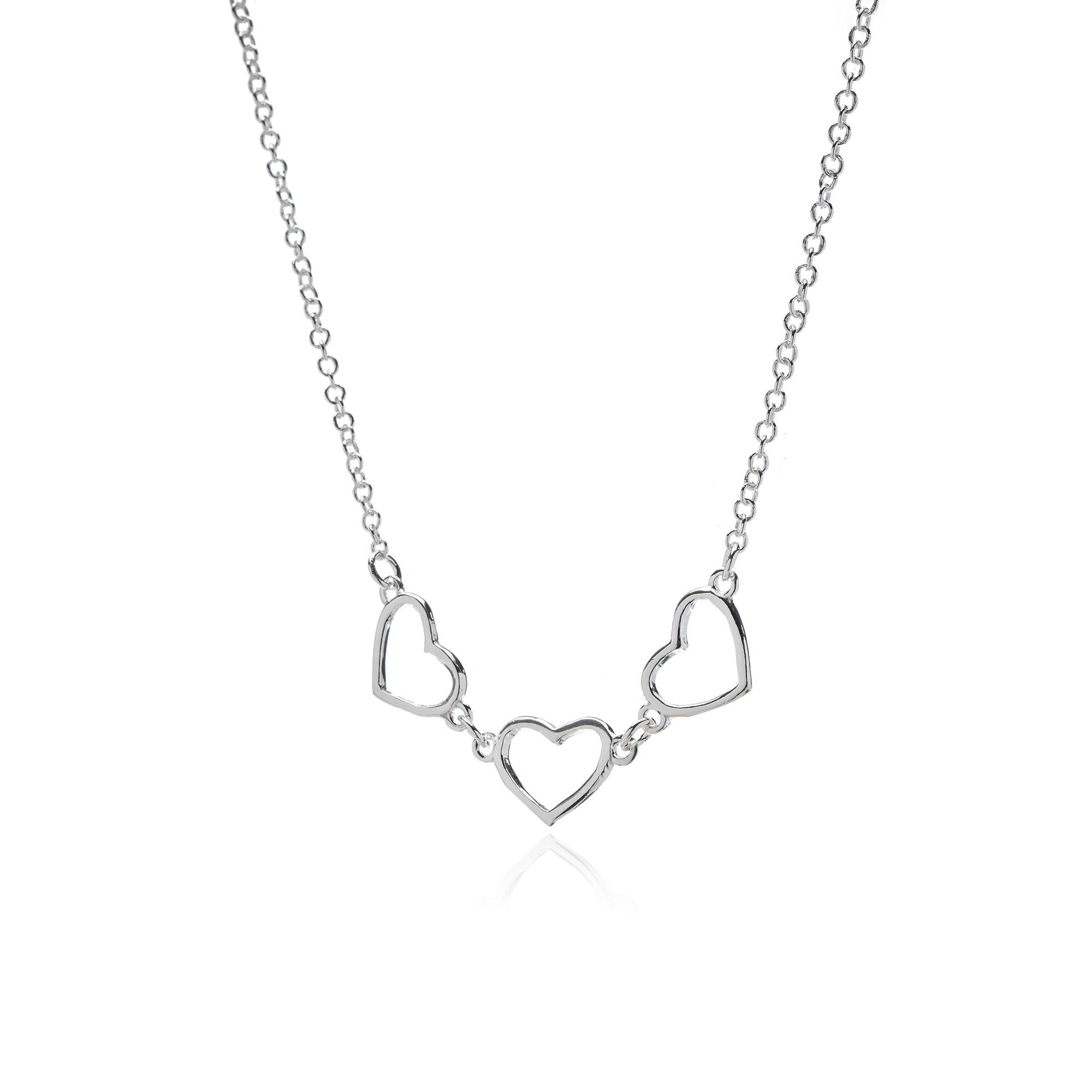 Colar Coração em Prata 925 40 cm + Extensor