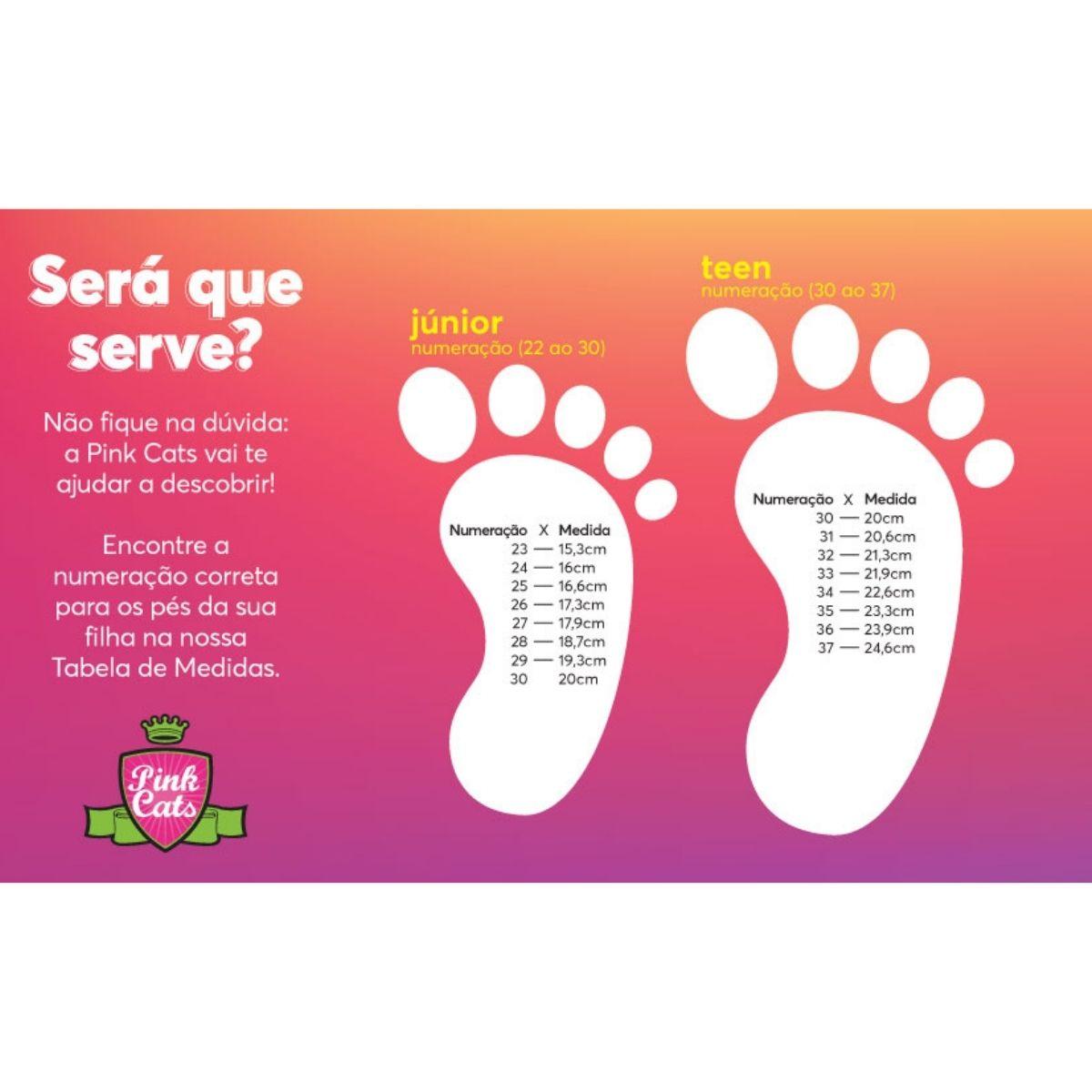 Sandalia Baixa Pink Cats V2072