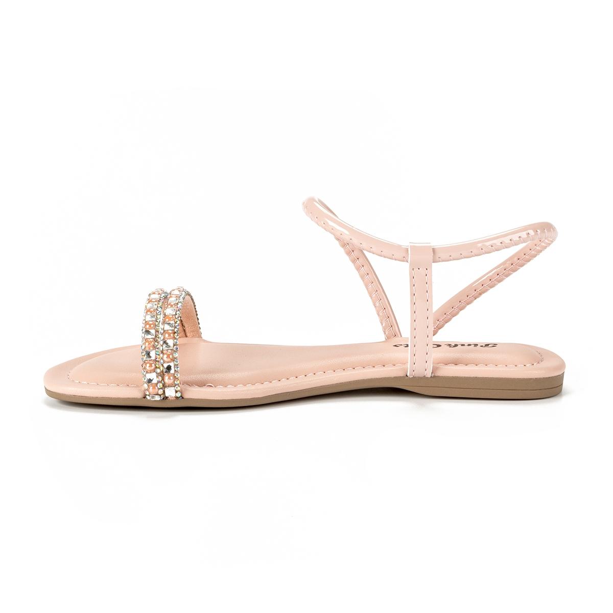 Sandalia Rasteira Pink Cats V2133