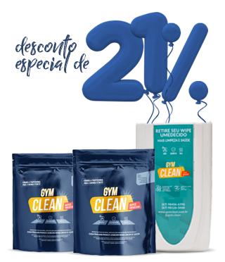 Kit Tradicional Gym Clean ( 2 Wipes + 1 Dispenser de Parede) De: R$ 244,80