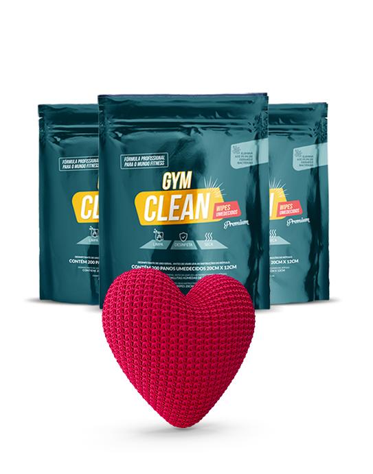 Kit Premium Gym Clean (Compre 3 e pague 2)  De: R$ 269,70