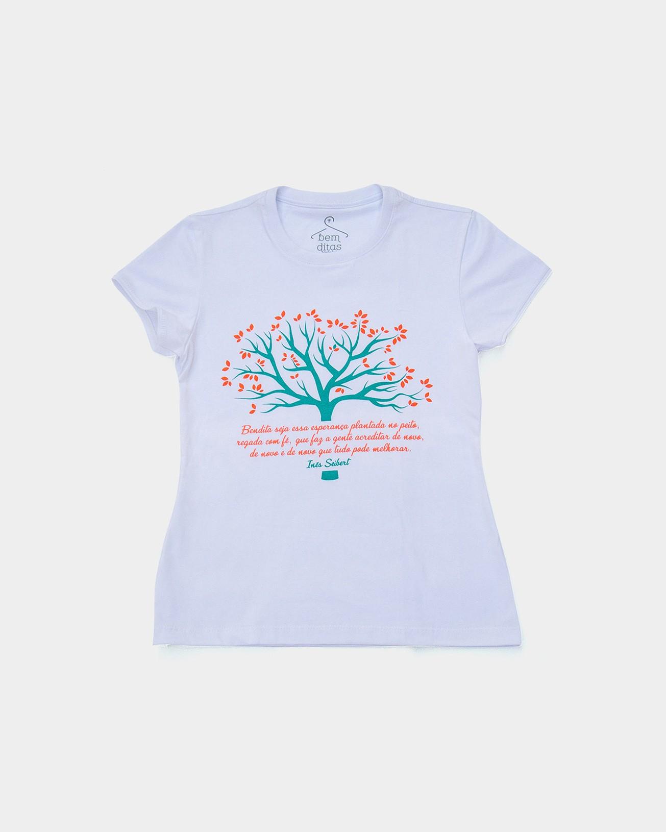 Camiseta Baby Look - Bendita Esperança (árvore)