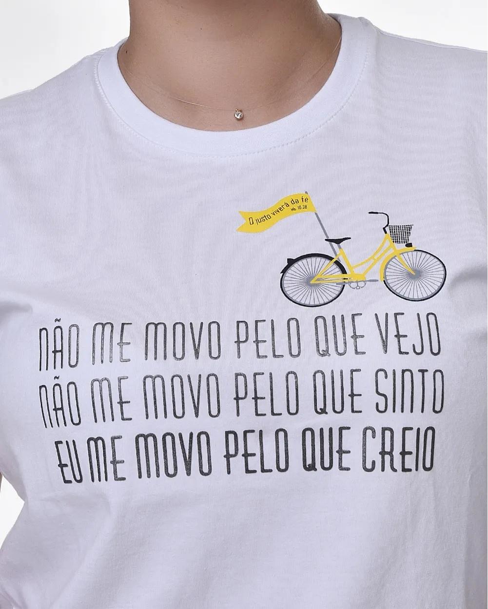 Camiseta Baby Look - Fé - Hebreus 11 (Algodão)
