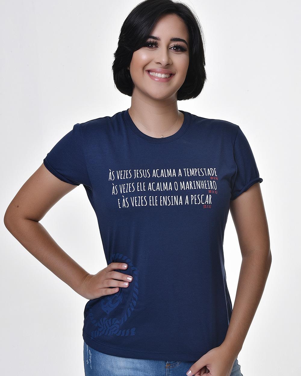 Camiseta Baby Look - Navy