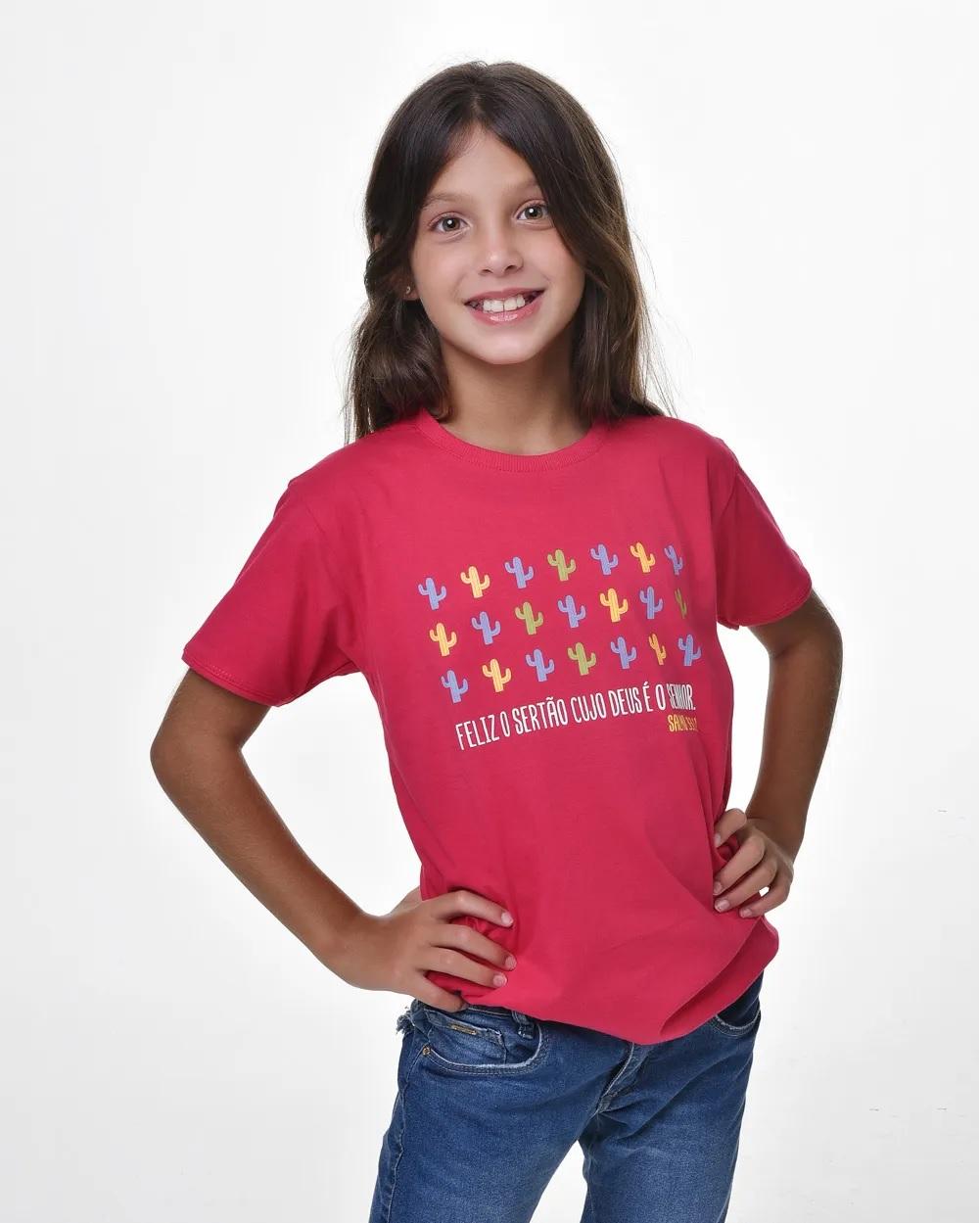 Camiseta Infantil - Bendito Sertão 01 (Algodão)