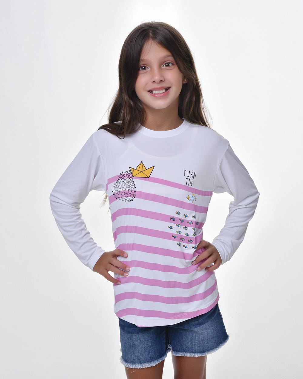 Camiseta Infantil Proteção Solar - Pedro, Tiago e João no Barquinho - FPS50+