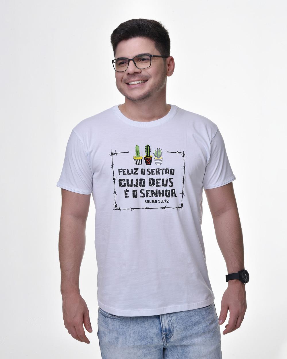 Camiseta Tradicional - Bendito o Sertão 03 (Arame) (Algodão)