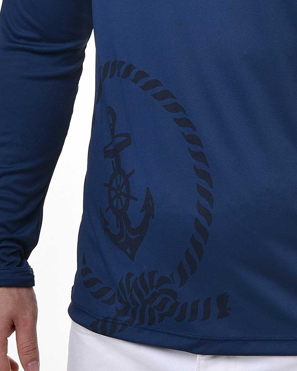 Camiseta Tradicional Proteção Solar Navy - FPS50+