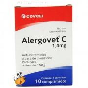 ANTI ALÉRGICO ALERGOVET 1,4 MG PARA CÃES E GATOS CAIXA COM 10 COMPRIMIDOS
