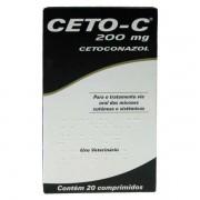 ANTIFÚNGICO CETO-C 200MG CÃES E GATOS CAIXA COM 20 COMPRIMIDOS