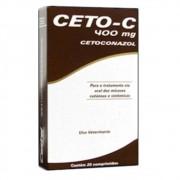 ANTIFÚNGICO CETO-C 400MG CÃES E GATOS  CAIXA COM 20 COMPRIMIDOS