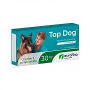 VERMÍFUGO DISPLAY TOP DOG OURO FINO 30KG CONTÉM 12 CAIXAS COM 02 COMPRIMIDOS CADA