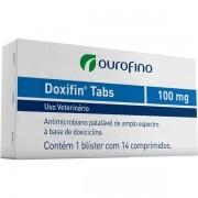 ANTIBIÓTICO DOXIFIN TABS 100MGOURO FINO CAIXA COM 14 COMPRIMIDOS