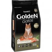 Ração Golden Gatos Castrados Sabor Salmão 10KG