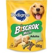 Kit 5 Biscoito Pedigree Biscrok Multi para Cães Adultos 500GR