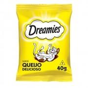 Kit com 2 Petisco Dreamies Queijo para Gatos Adultos 40gr