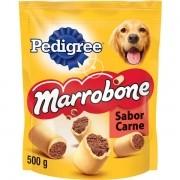 Kit com 5 Biscoito Pedigree Marrobone Carne Cães Adultos 500 GR
