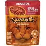 Kit com 12 Unidades Ração Úmida  Special Cat Adulto Carne 85g