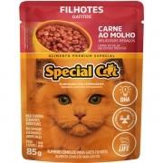 Kit 12 Unidades Ração Úmida Special Cat Adulto Carne 85g