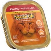 RAÇÃO ÚMIDA SPECIAL CAT PATÊ ADULTO CARNE 100GR