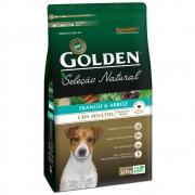 Ração Golden Seleção Natural Cães Adultos Porte Pequeno Frango e Arroz Mini Bits 3KG