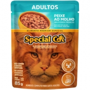Ração Úmida Special Cat Sachê Peixe para Gatos Adultos 85gr Caixa c/ 12 Un.