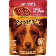 Ração Úmida Special Dog Sachê Carne para Cães Adultos 100gr Caixa c/ 12 Un.