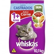 Ração Whiskas Gatos Castrados Carne 10 KG