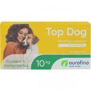 VERMÍFUGO TOP DOG OURO FINO CÃES 10KG CAIXA COM 04 COMPRIMIDOS