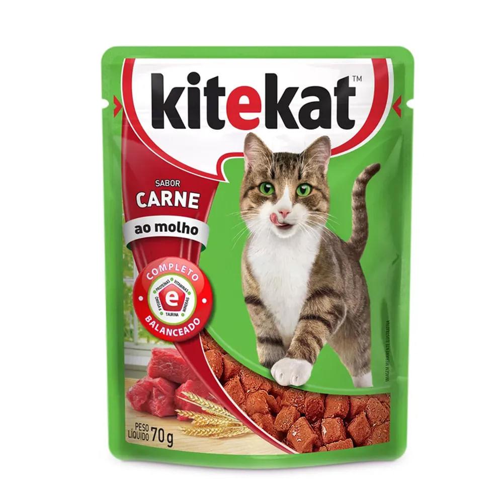 Alimento Úmido KiteKat Carne ao Molho 70g