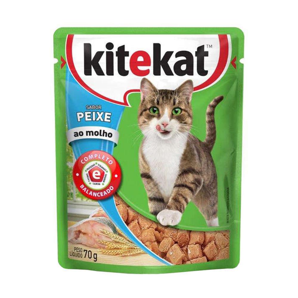 Alimento Úmido KiteKat Peixe ao Molho 70g
