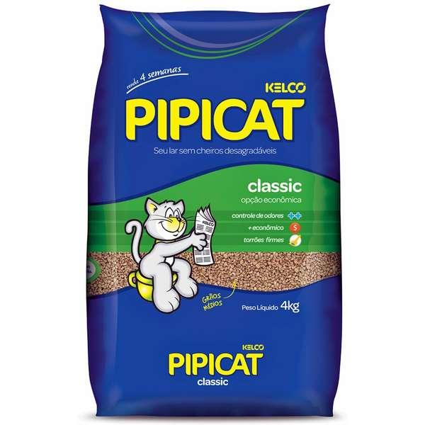 AREIA SANITÁRIA PARA GATOS  PIPI CAT CLASSIC 4KG