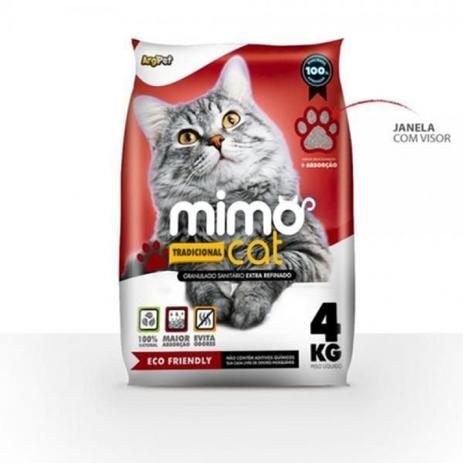 Areia sanitária para gatos MimoCat Tradicional Embalagem 4 kg