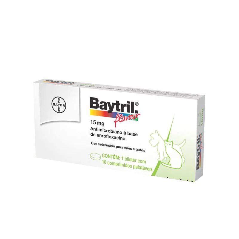 BAYTRIL 15MG CAIXA COM 10 COMPRIMIDOS PALATÁVEIS